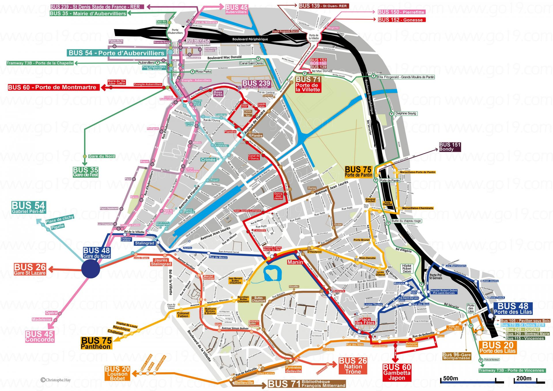 Carte des bus 19eme 2021 hd go19