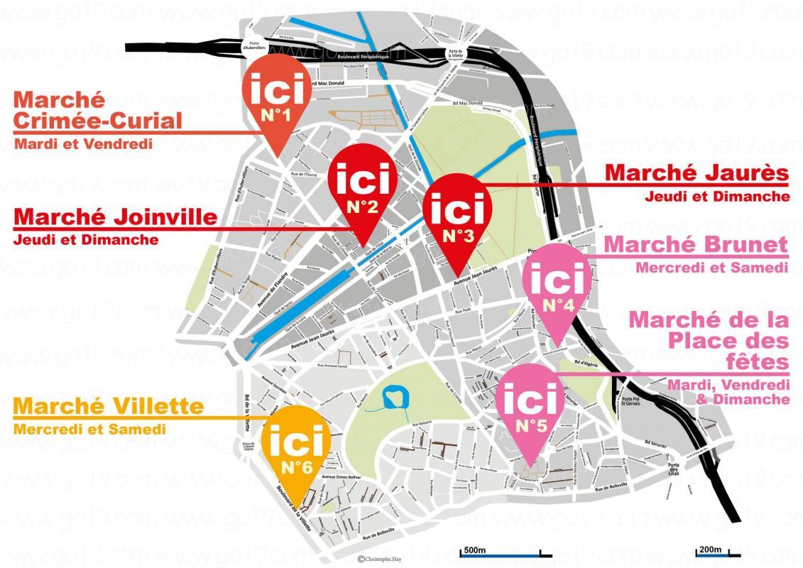Carte2 des marches