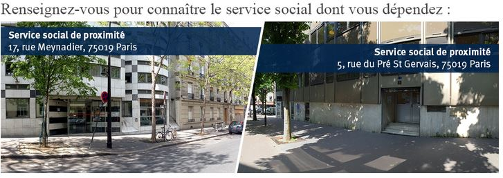 Service social de proximité du 19e arrondissement - Zone 3 & 4